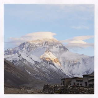 Everest from Rongbuk Monastery